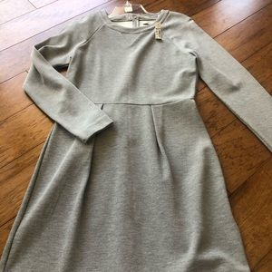 Nwt gray Madewell midi cotton stretch dress sz  m